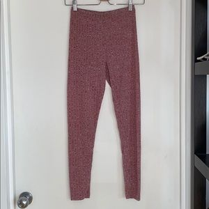 Nwot Burgundy heather ribbed tights never worn